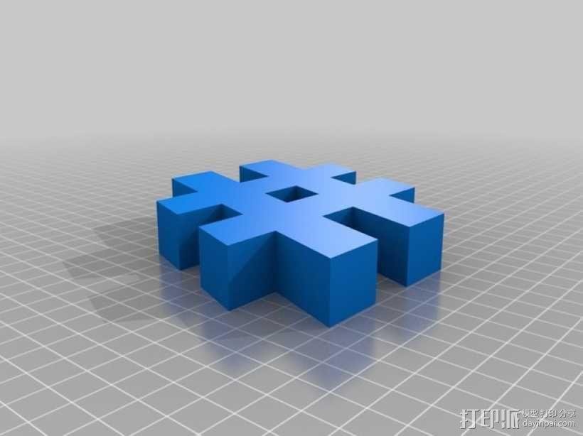 井字符 3D模型  图2