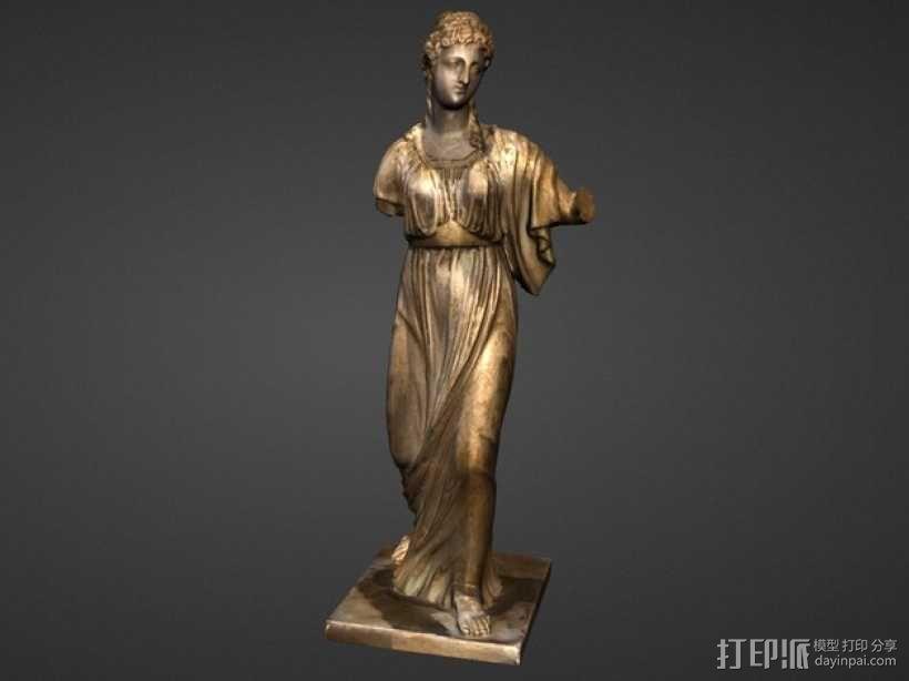 阿格里皮娜雕塑 3D模型  图1
