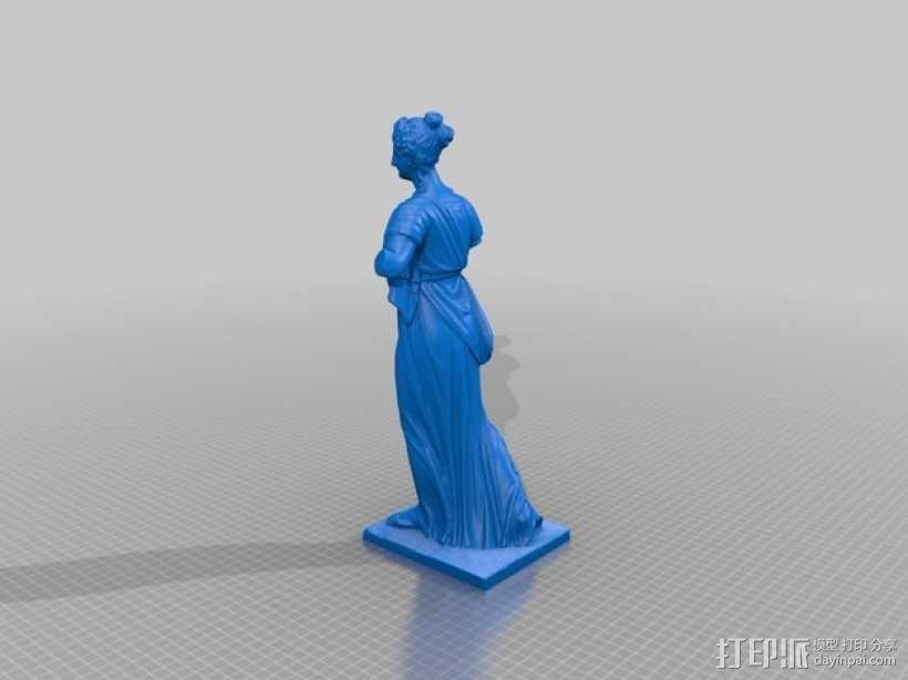 阿格里皮娜雕塑 3D模型  图2