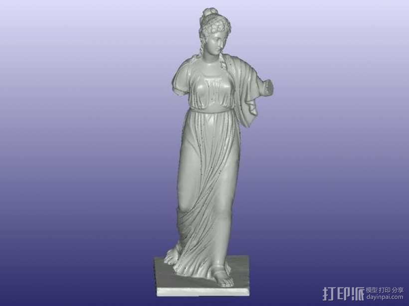 阿格里皮娜雕塑 3D模型  图3