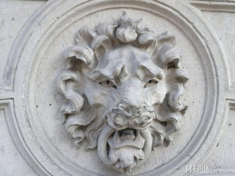 狮子头壁挂 3D模型  图1