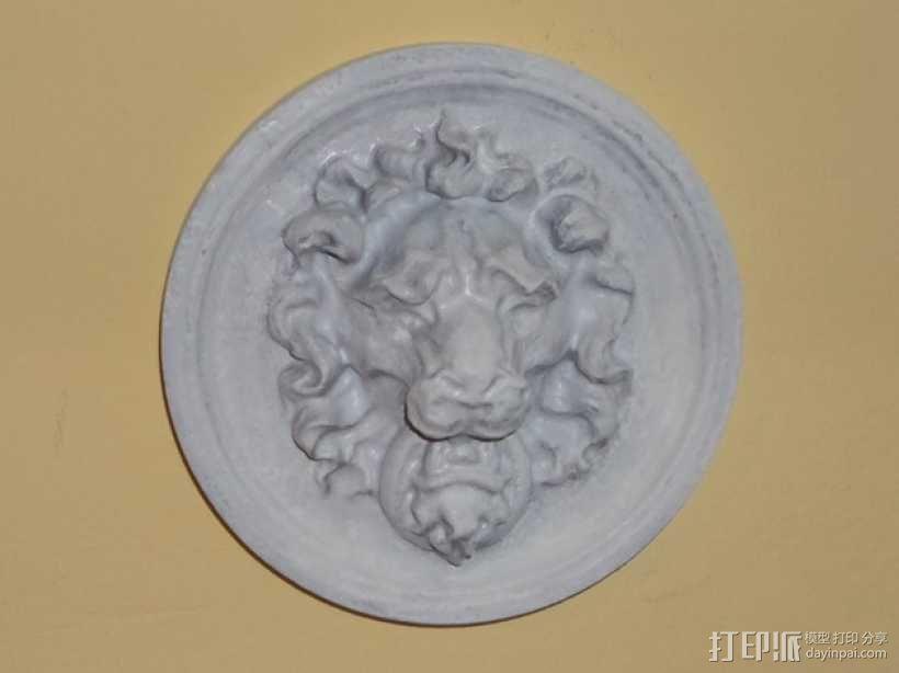 狮子头壁挂 3D模型  图5