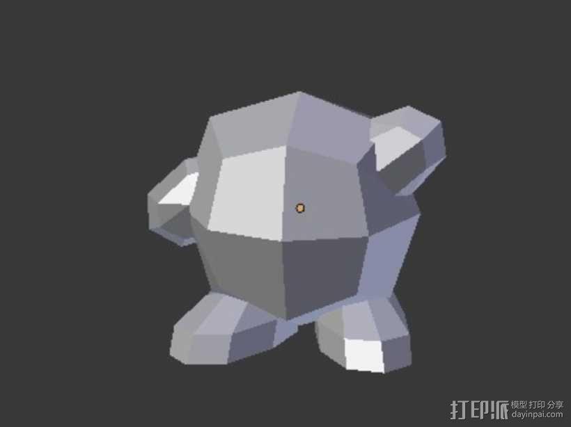 星之卡比模型 3D模型  图4
