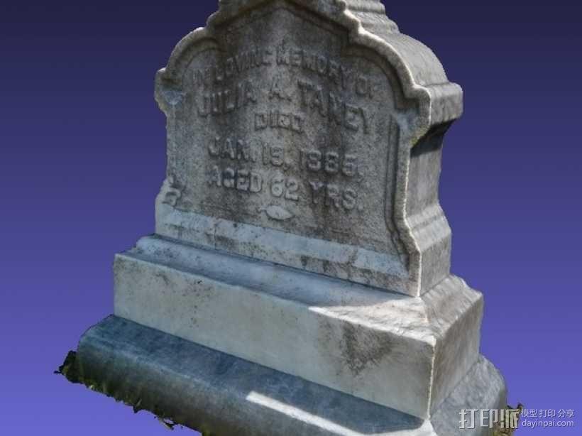 墓碑模型 3D模型  图1