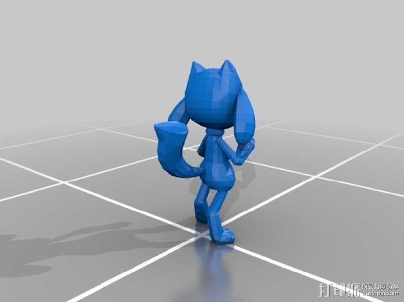 Riolu卢卡里欧 玩偶 3D模型  图1