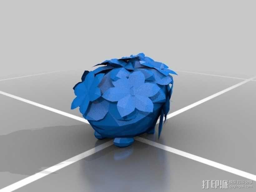 谢伊米 草刺猬 3D模型  图1