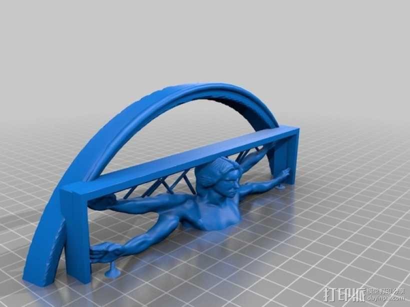 维特鲁威人 3D模型  图2