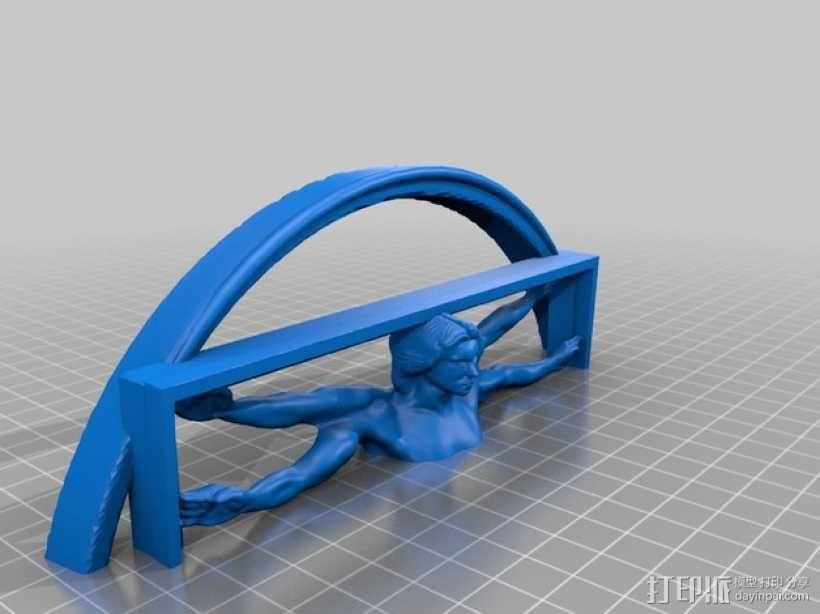 维特鲁威人 3D模型  图5