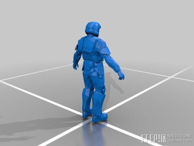 光晕3:地狱伞兵 3D模型  图1