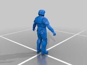 光晕3:地狱伞兵 3D模型