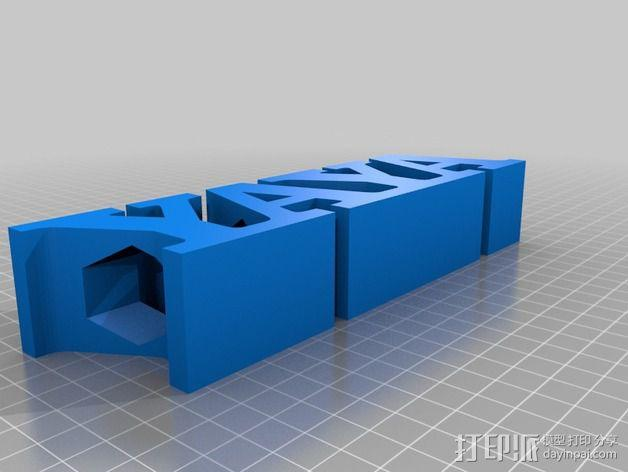 YAYA铅笔筒 3D模型  图1