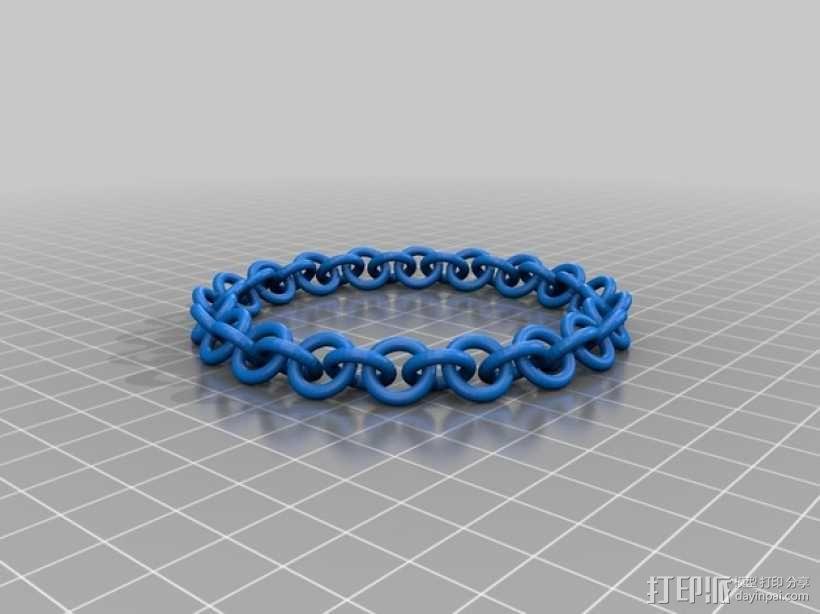 弹性锁链 3D模型  图1