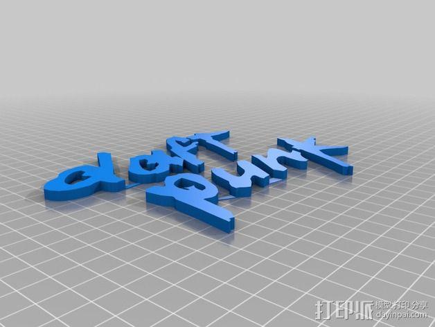 蠢朋克标志 3D模型  图2