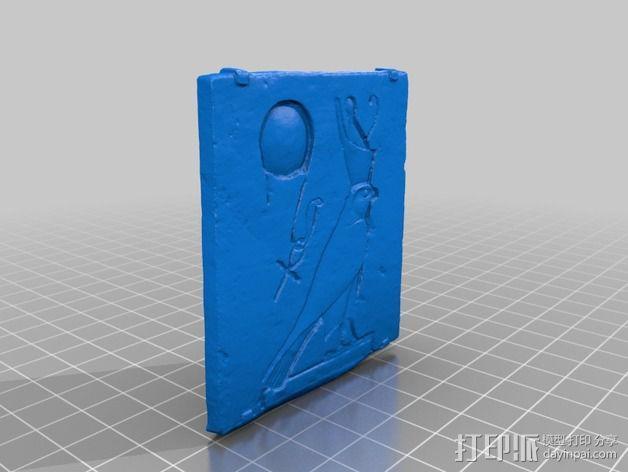 horus太阳神贴卡 3D模型  图3