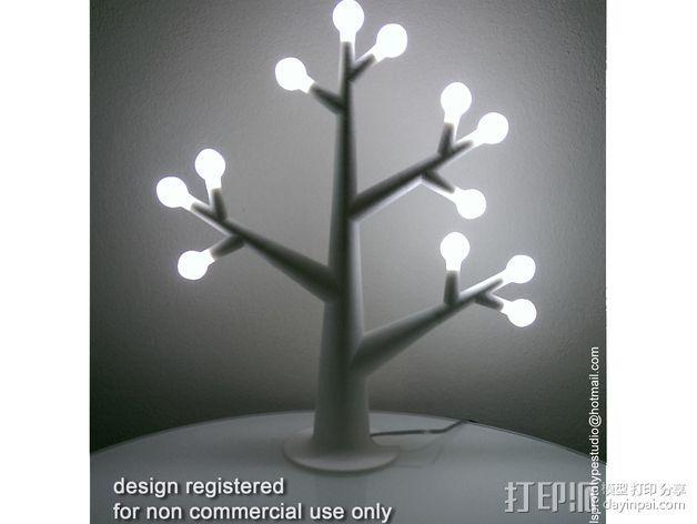 珠宝树灯 3D模型  图2