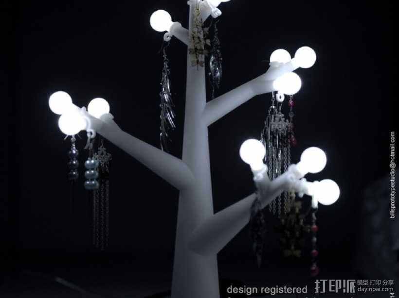 珠宝树灯 3D模型  图1