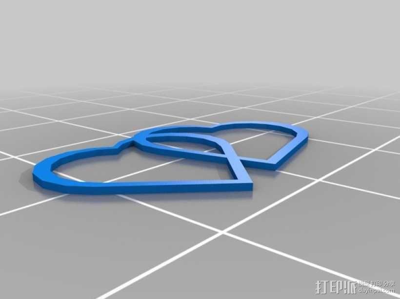 交融的心 3D模型  图1