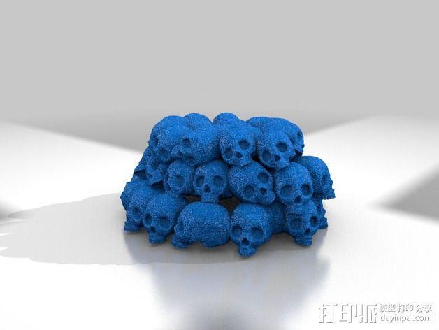 一大堆骷髅 3D模型  图2