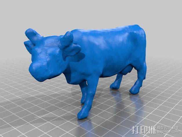 农场奶牛 3D模型  图2