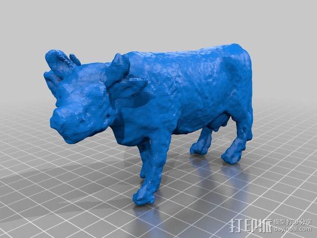 农场奶牛 3D模型  图3