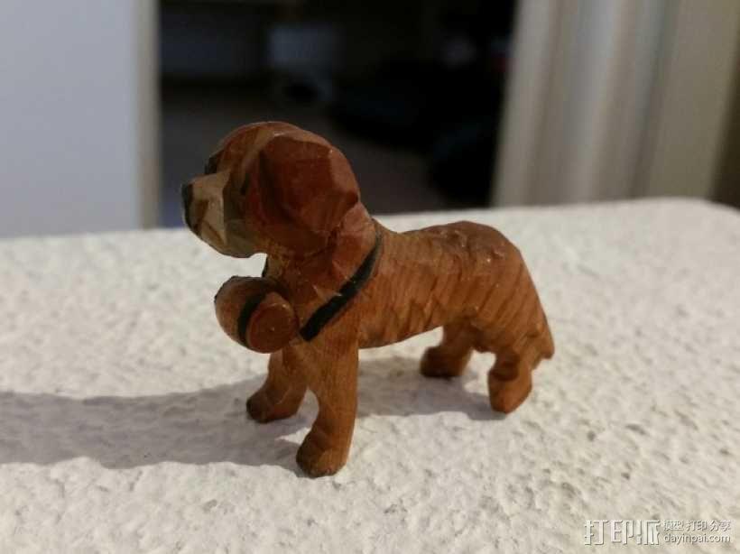 圣伯纳德犬 3D模型  图1
