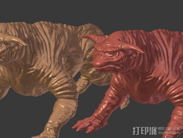 魔鬼犬 雕塑 3D模型  图3