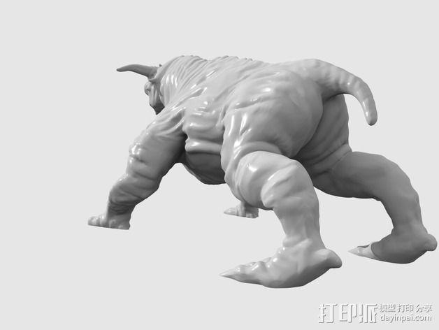 魔鬼犬 雕塑 3D模型  图4
