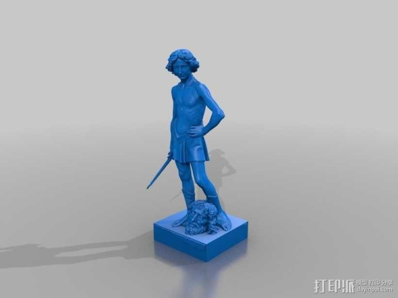 大卫雕塑 3D模型  图3