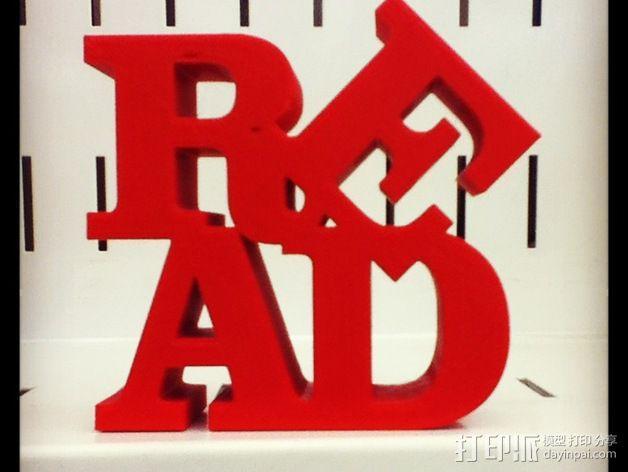 字母READ 3D模型  图1