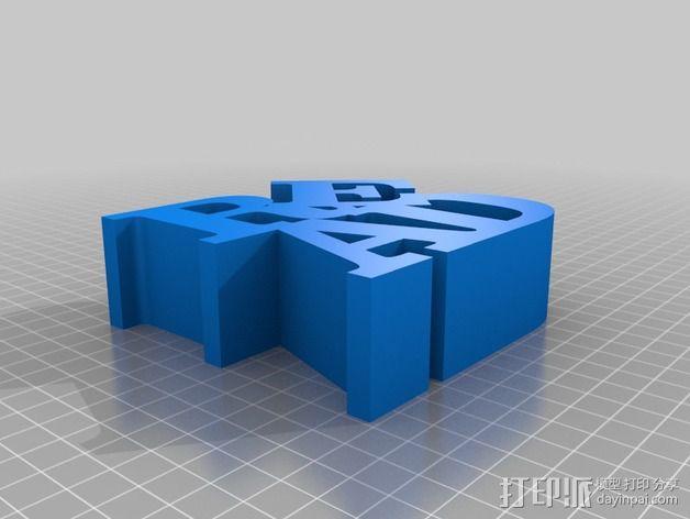 字母READ 3D模型  图2