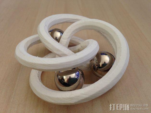 螺旋形花托  笔架 3D模型  图1
