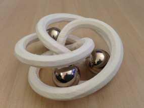 螺旋形花托  笔架 3D模型