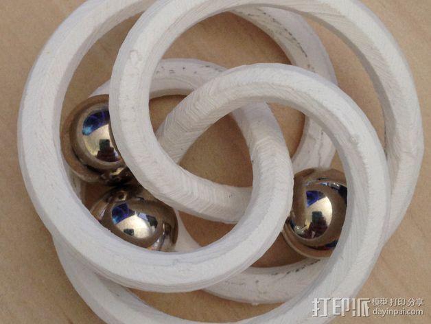 螺旋形花托  笔架 3D模型  图4