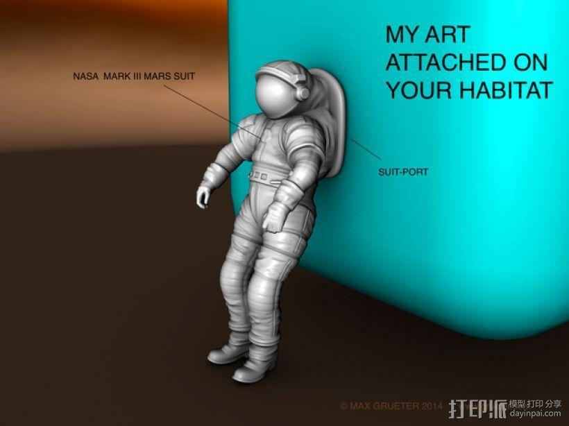 太空服模型 3D模型  图1