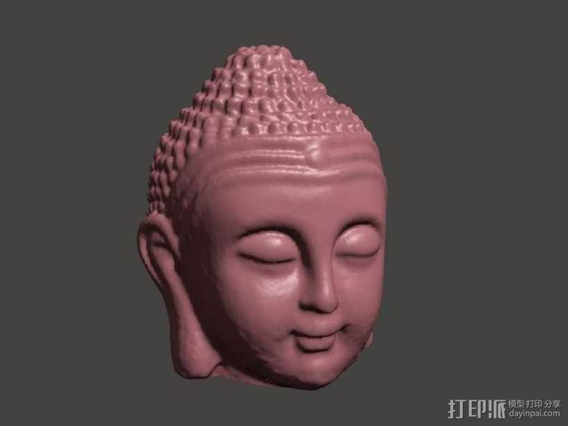 佛祖头像模型 3D模型  图1