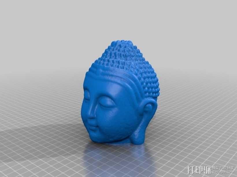 佛祖头像模型 3D模型  图2