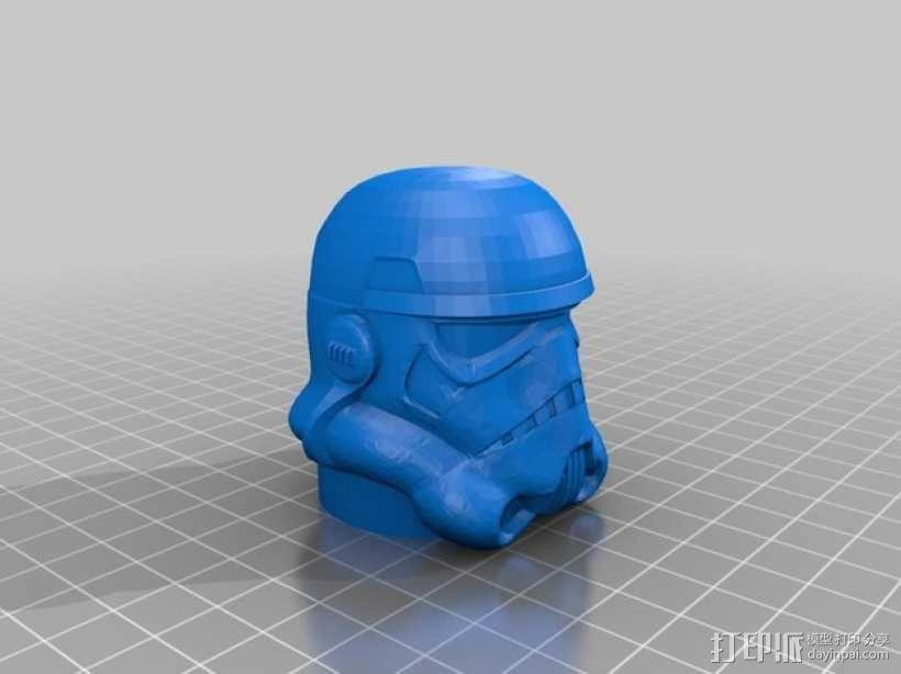 帝国风暴兵 头盔 3D模型  图1