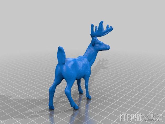小鹿 3D模型  图2