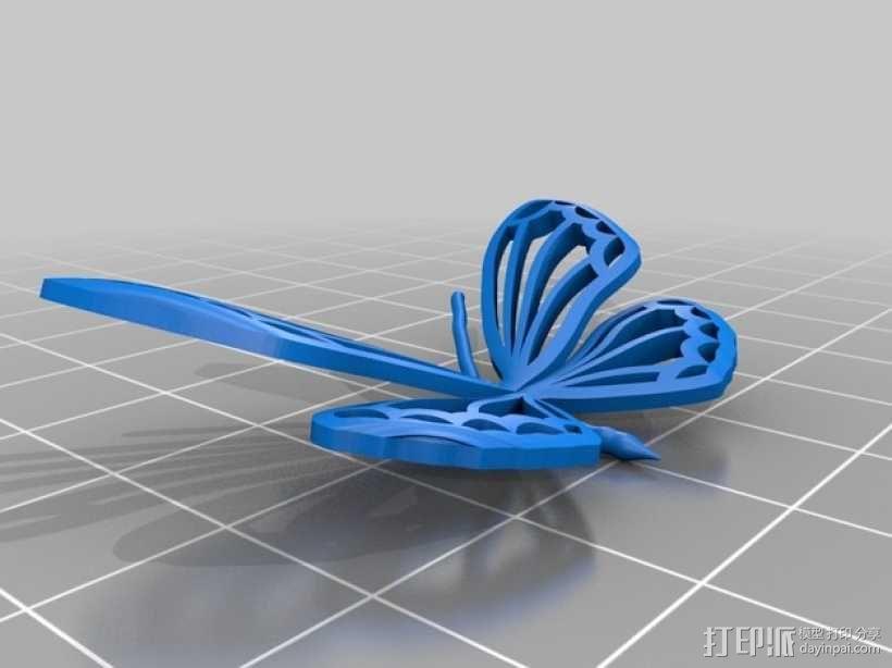 3D蝴蝶 3D模型  图1