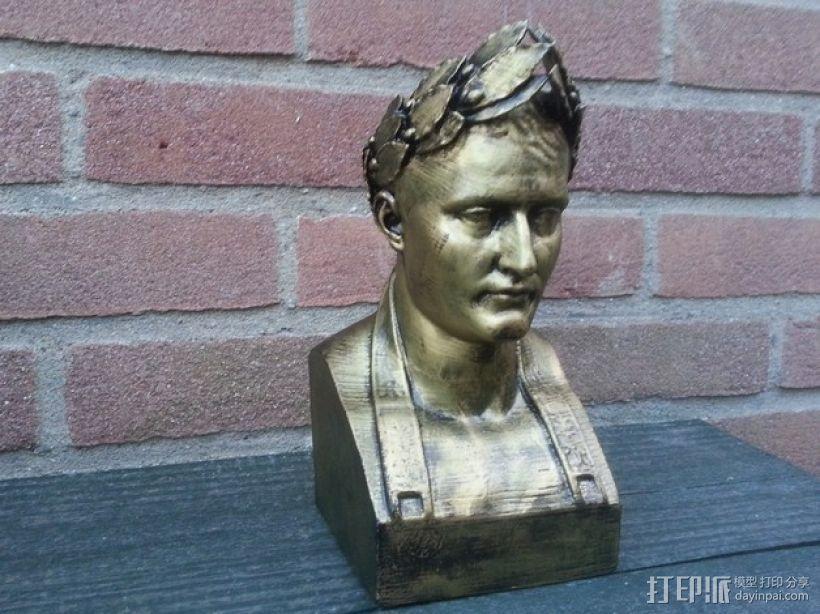 拿破仑半身像模型 3D模型  图1