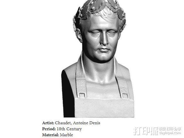 拿破仑半身像模型 3D模型  图7
