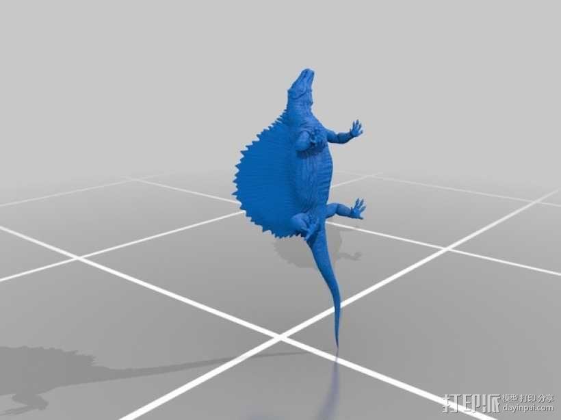 异齿龙模型 3D模型  图2