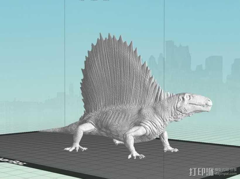 异齿龙模型 3D模型  图1
