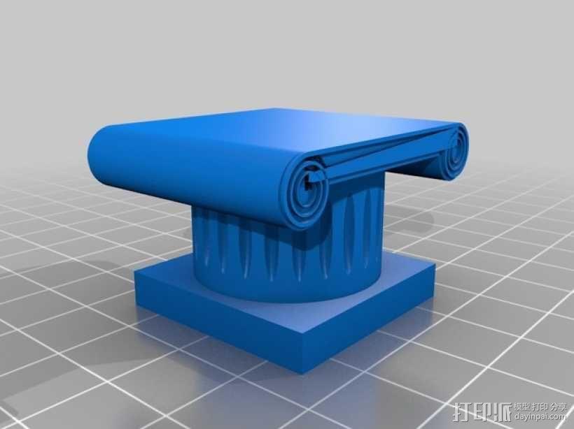 希腊柱 3D模型  图1