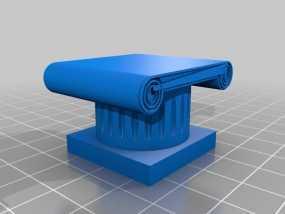 希腊柱 3D模型