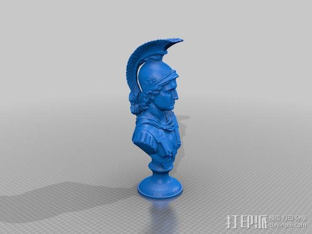 亚历山大大帝半身像 3D模型  图1