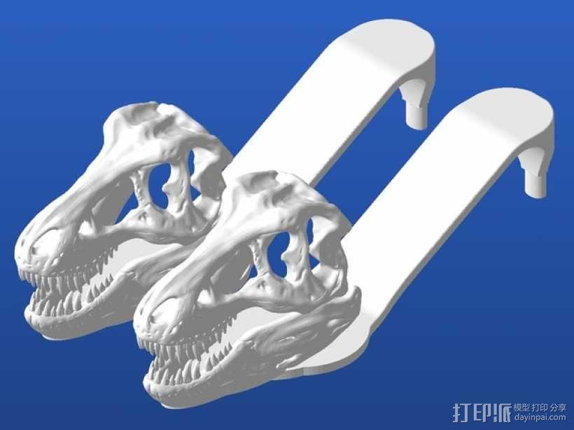 暴龙凉鞋 3D模型  图1