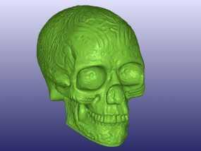 凯尔特中空骷髅 3D模型