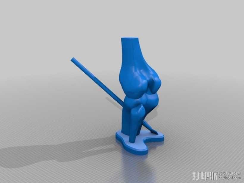 膝盖中箭 3D模型  图2