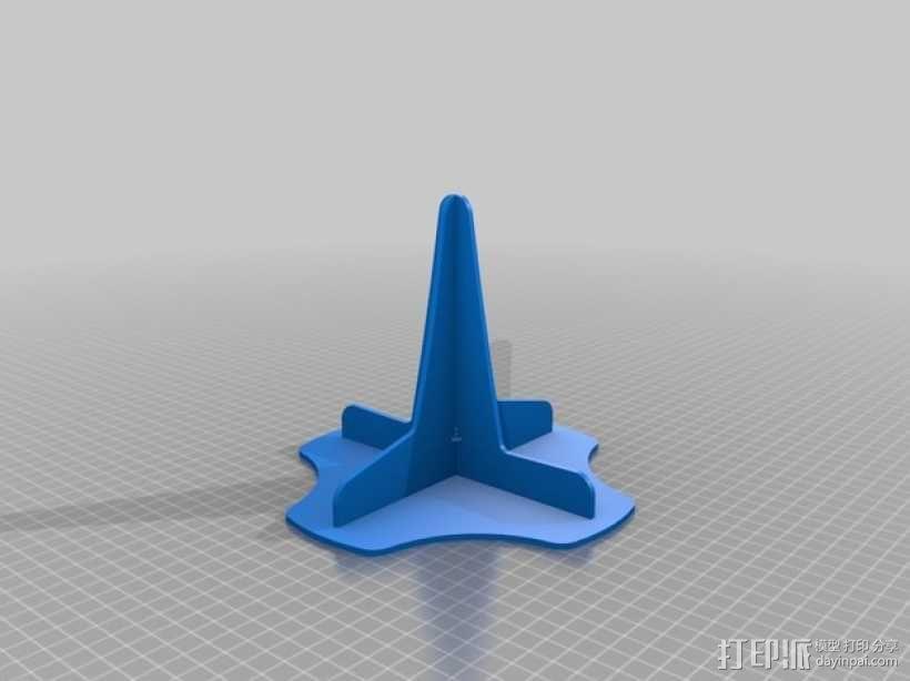 单簧管支架 3D模型  图2